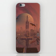 Futuristic City with Space Ships iPhone & iPod Skin