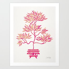 Bonsai Tree – Pink Palette Art Print