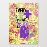positive Canvas Prints featuring (+) Positive! by Julieta Gutnisky