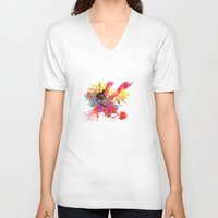 surfer V-neck T-shirts featuring Surfer by Allison Reich