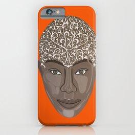 brown visage iPhone Case