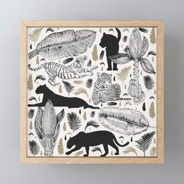Wild Cats and Botanicals Framed Mini Art Print
