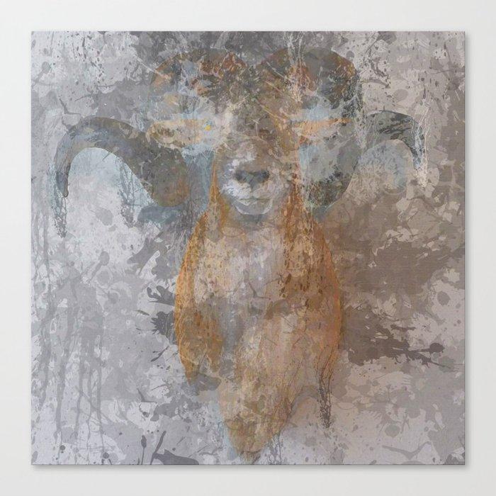 Oil paint buf Canvas Print
