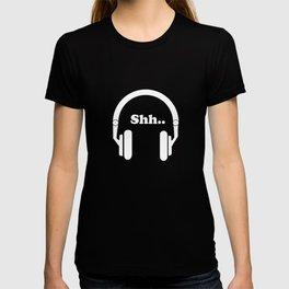 Headphones and music T-shirt