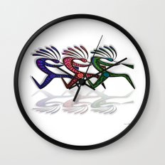 RUNNING  KOKOPELLI II Wall Clock