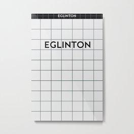 EGLINTON | Subway Station Metal Print