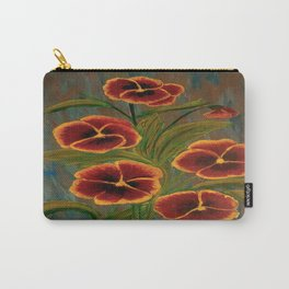 Pansies-2 Carry-All Pouch
