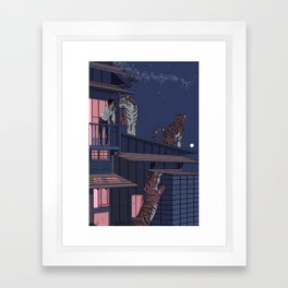 Tiger Playhouse Framed Art Print