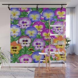 Pansies Wall Mural