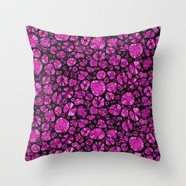 Barca Dots Pattern pink/black Throw Pillow