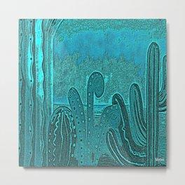 Desert landscape, night vision Metal Print