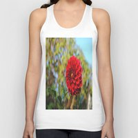 dahlia Tank Tops featuring Dahlia by Renee Trudell