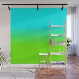 neon green, neon orange, ombre shade, color fade, neon, green, yellow, orange, ombre, shade, color, Wall Mural