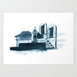 Swiss Fountain Art Print