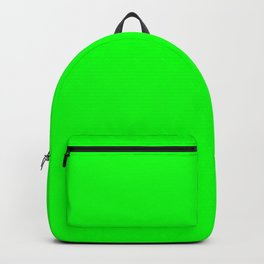 Neon Green Simple Solid Color All Over Print Backpack