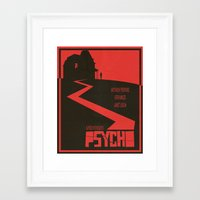 movie poster Framed Art Prints featuring Psycho Movie Poster by Finlay McNevin