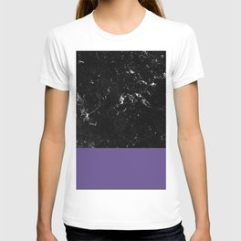Ultra Violet Meets Black Marble #1 #decor #art #society6 T-shirt