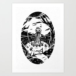 The End of The Line Art Print