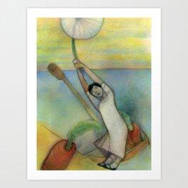 Airborn Dandelion Art Print