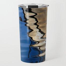 Blue white abstract Travel Mug