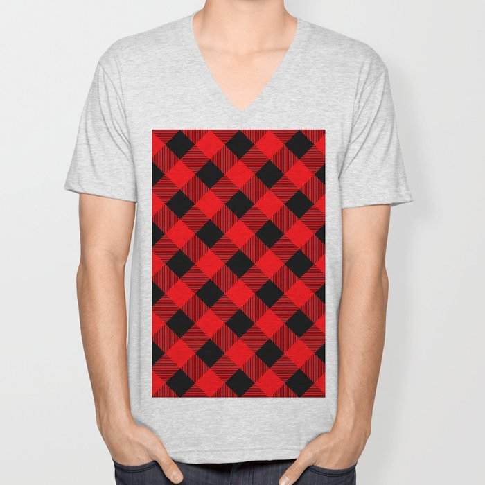 Buffalo Plaid Scottish Lumberjack Unisex V-Neck