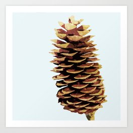 Simple Modern Pinecone Digital Art Art Print