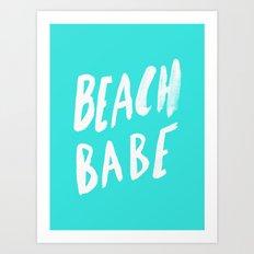 Beach Babe x Teal Art Print