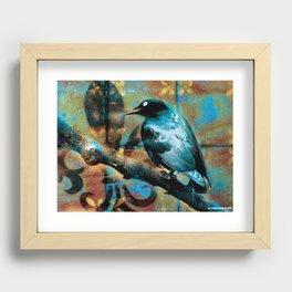 Fleur De Bluebird Recessed Framed Print