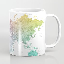The world is your oyster world map Coffee Mug