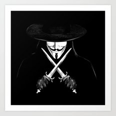 V for Vendetta (e7) Art Print