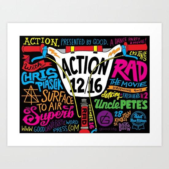 Action Art Print
