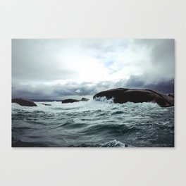 Waves at Granite Island Canvas Print