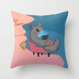 Chin Chillah Throw Pillow