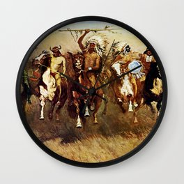 """""""Victory Dance"""" Western Art by Frederick Remington Wall Clock"""
