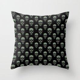 Skulls Motif Print Pattern Throw Pillow