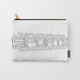 Run for relaxation, pleasure, health... white Carry-All Pouch
