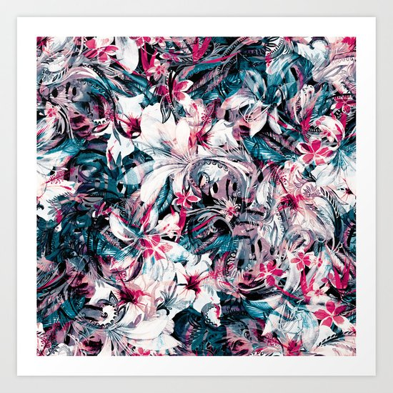 Seamless Floral And Paisley Pattern Art Print
