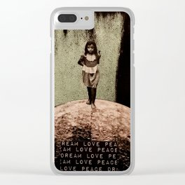 Safe Spaces - Taking Refuge in the Matrix of Love, Peace, and Dreams Clear iPhone Case