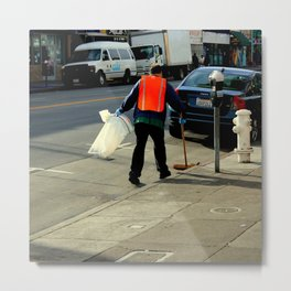 Catch The Wind-sweeper Metal Print