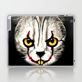 cat clown kittywise no text vector art Laptop & iPad Skin