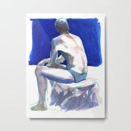 UNTITLED, Semi-Nude Male Metal Print