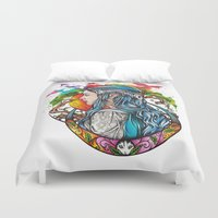 celtic Duvet Covers featuring Celtic elf by Raquel C. Hita - Sednae