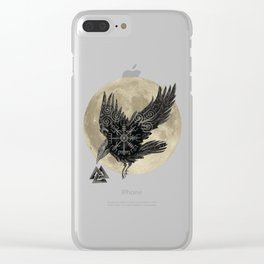 Raven & Moon Clear iPhone Case
