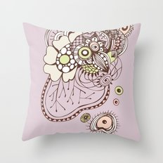Tangled roots Throw Pillow