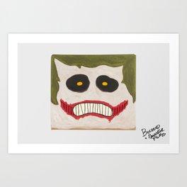 JOKER BOXHEAD Art Print