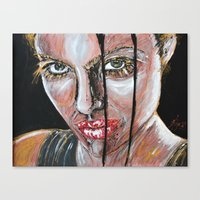 lara croft Canvas Prints featuring lara croft by lisylight