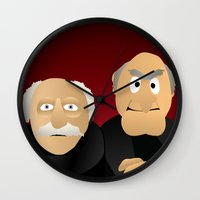 muppets Wall Clocks featuring Statler & Waldorf - Muppets Collection by Bryan Vogel