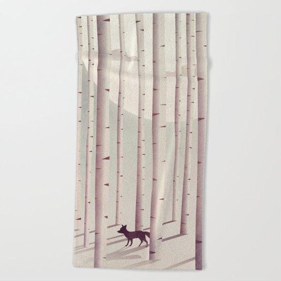 Serene Forest Beach Towel