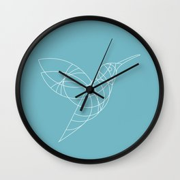 Geo Hummingbird Wall Clock