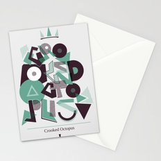 Crooked Typography Stationery Cards